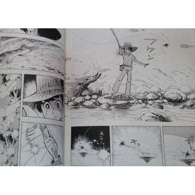 "Photo5: ""Tsurikichi Sanpei"" Comic, ""Kebari(Tenkara) Fishing"" Second Hand"