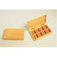 Kura-san's Wooden Kebari Case (8 Compartments) Magnet type