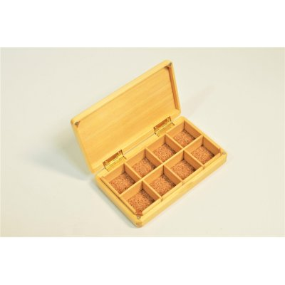 Photo2: Kura-san's Wooden Kebari Case (8 Compartments) Magnet type